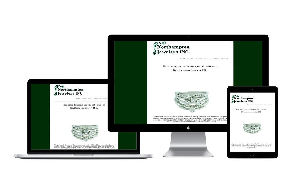Website design for a jeweler, Northampton jeweler website, website design Northampton MA, custom website, portfolio website, simple website design, website designer in Northampton, website designer in Amherst MA