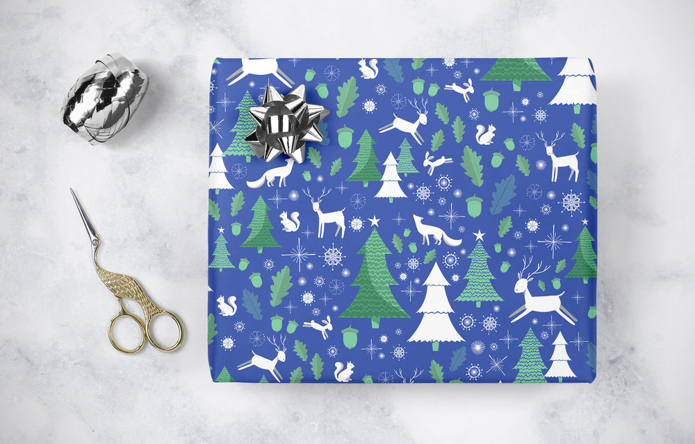 Holiday themed surface pattern design