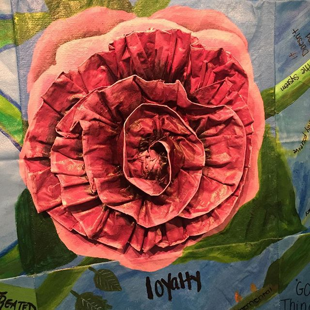 The Flower of Life by #artisticnoise girls at Spectrum Detention Center #ubuntu