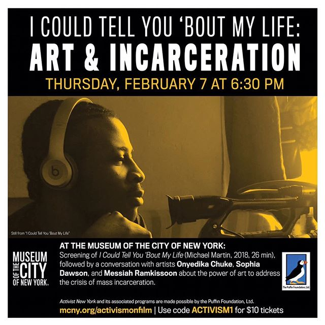 We are excited to share this event, which will feature Sophia Dawson, Co-Director of our Art and Entrepreneurship program and Teaching Artist for our Residential programs on Rikers Island. See you there!