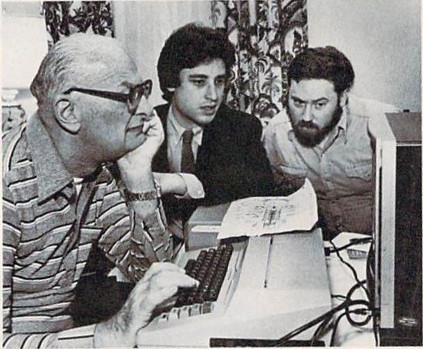 Arthur C. Clarke with Byron Preiss and David M. Harris