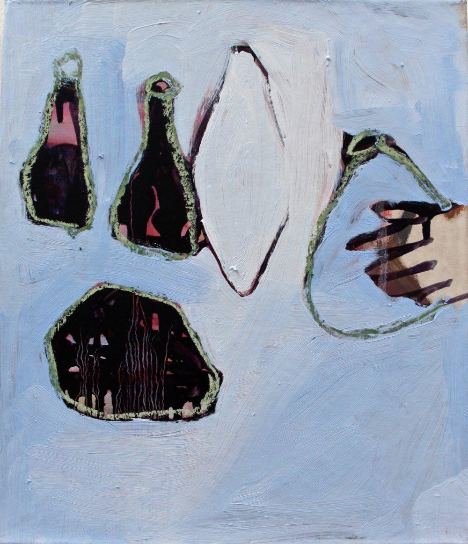 zu Hanny Fries, Menthe-verte et Noix-de-Coco (1969), 2016, Öl auf ungrundierter Baumwolle,  30 x 35 cm