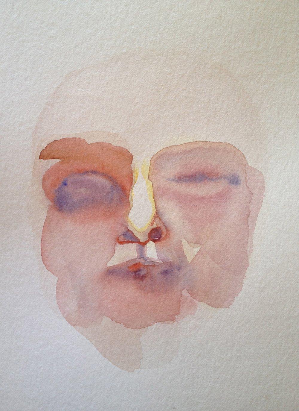 Ohne Titel, Aquarell auf Papier, 21 x 29,7 cm