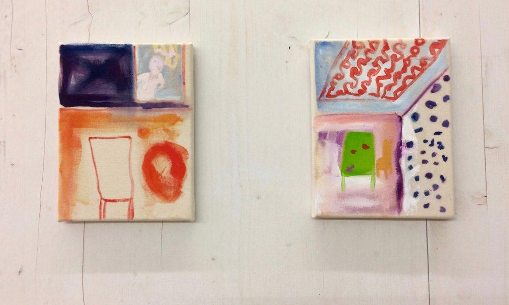 Ohne Titel, Serie von zwei Bildern, Januar 2017, Öl auf Leinwand