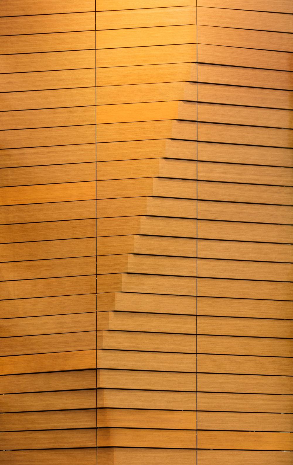 Wood wall detail.