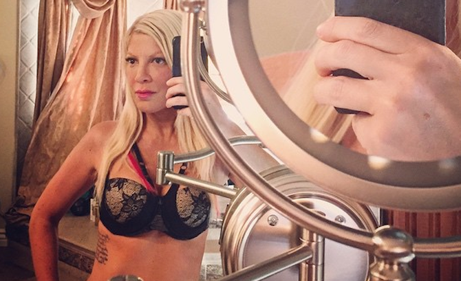 Tori Spelling x Night Lift