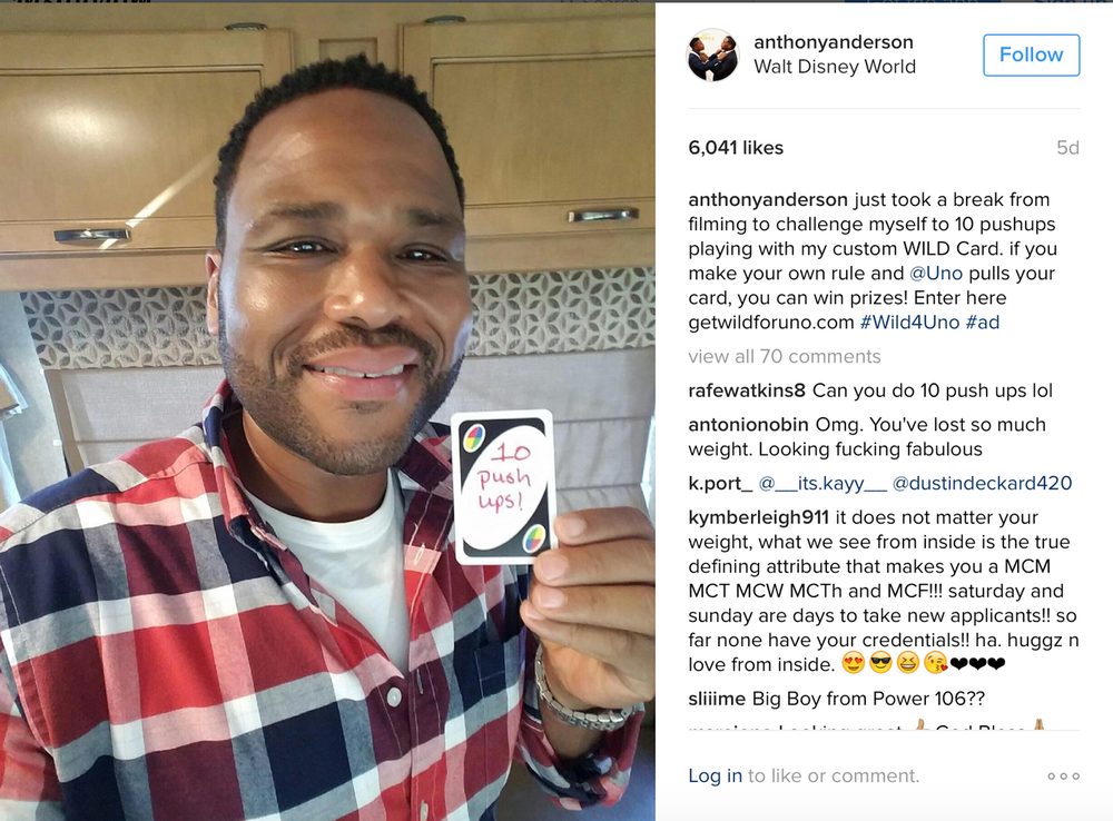 Anthony Anderson X Uno