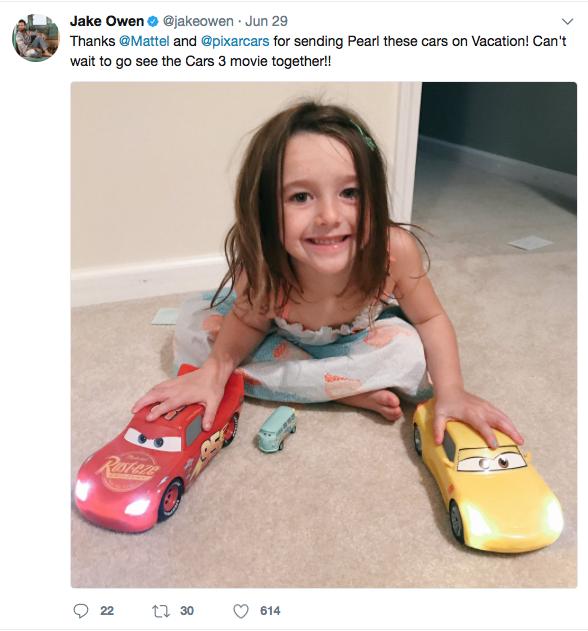 Jake Owen x Cars 3