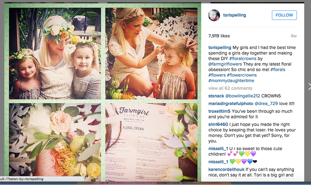 Tori Spelling X Farm Girl Flowers