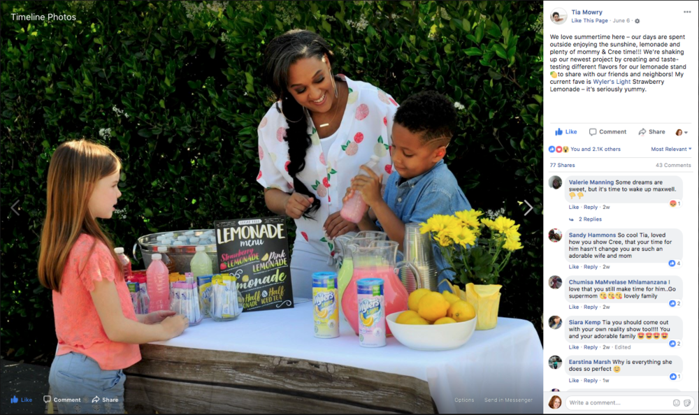Tia Mowry x Wyler's Light