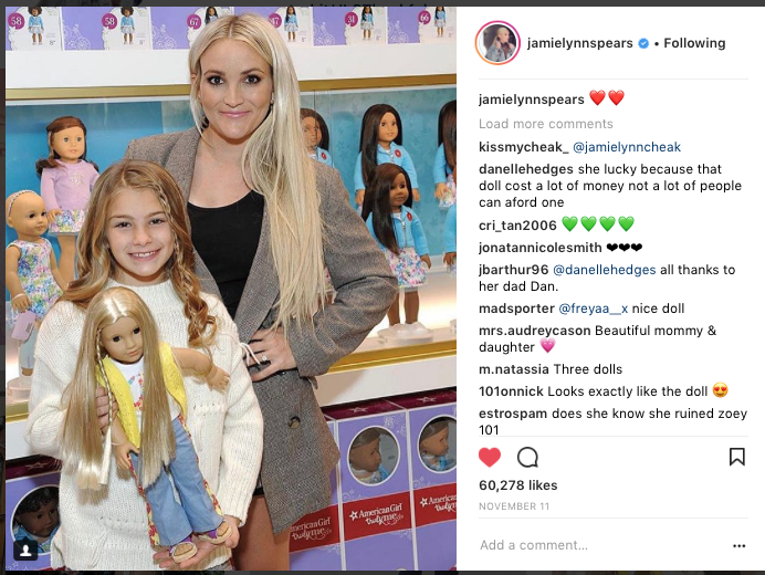 Jamie Spears x American Girl