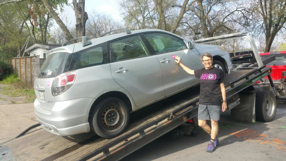 Here's how Kathleen Coyne is raising funds for Texas Mamma Jamma Ride - she donated a car! You can too!