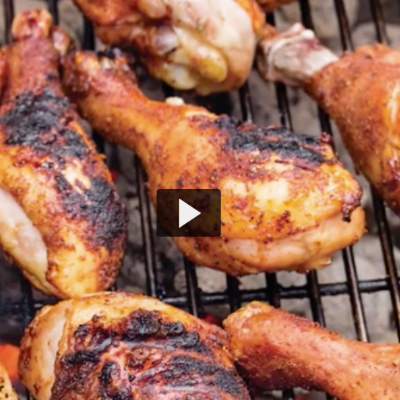 Grilled Chicken Drumsticks Video (Cook's Illustrated)