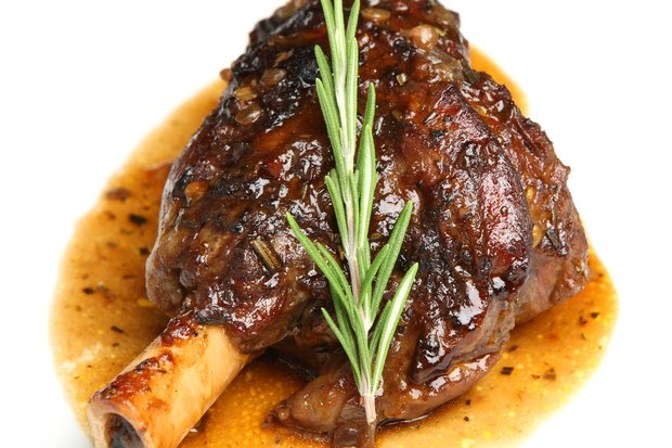 Braised Lamb Shanks with Rosemary from Epicurious