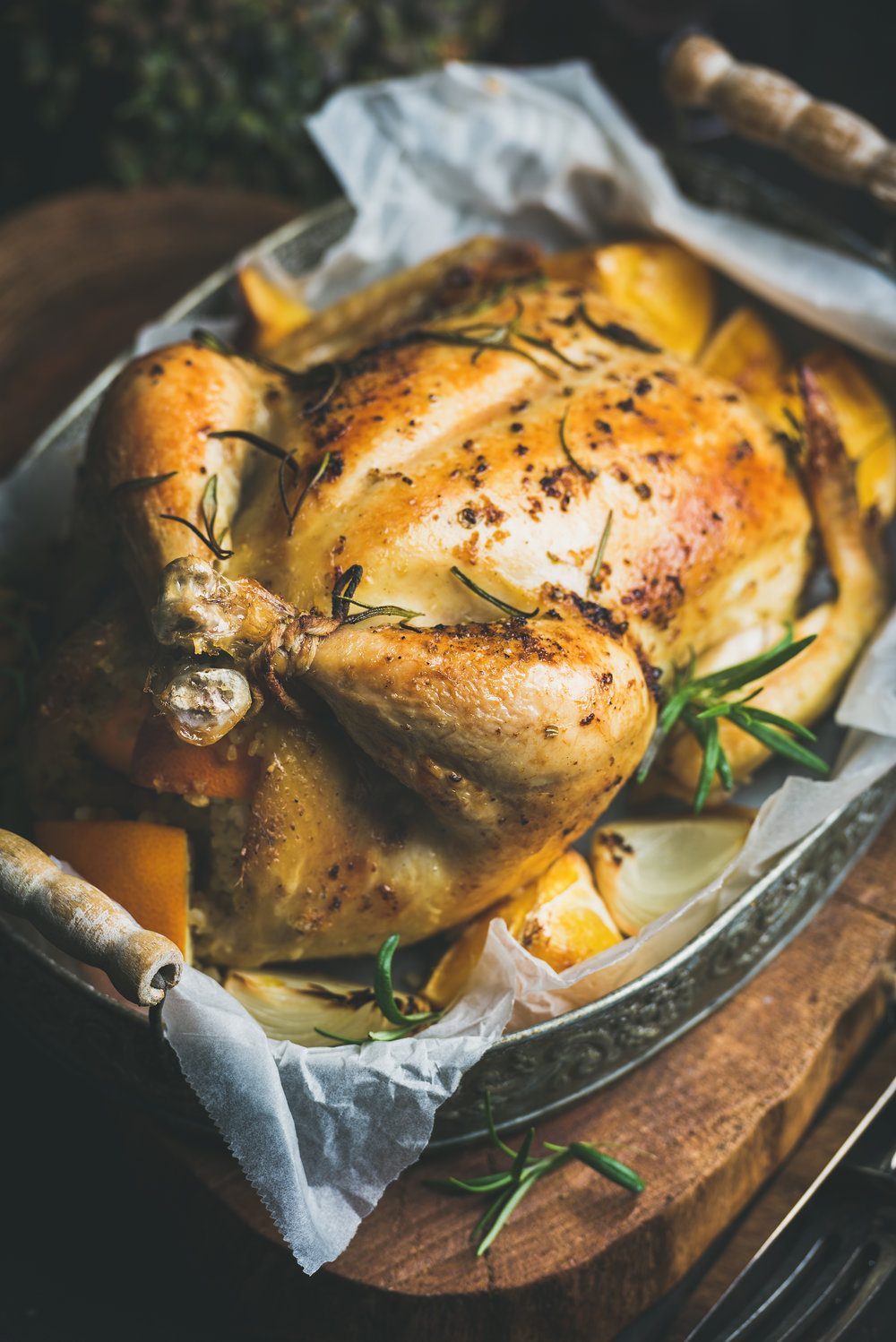 Perfect roast chicken with dijon mustard and herbs