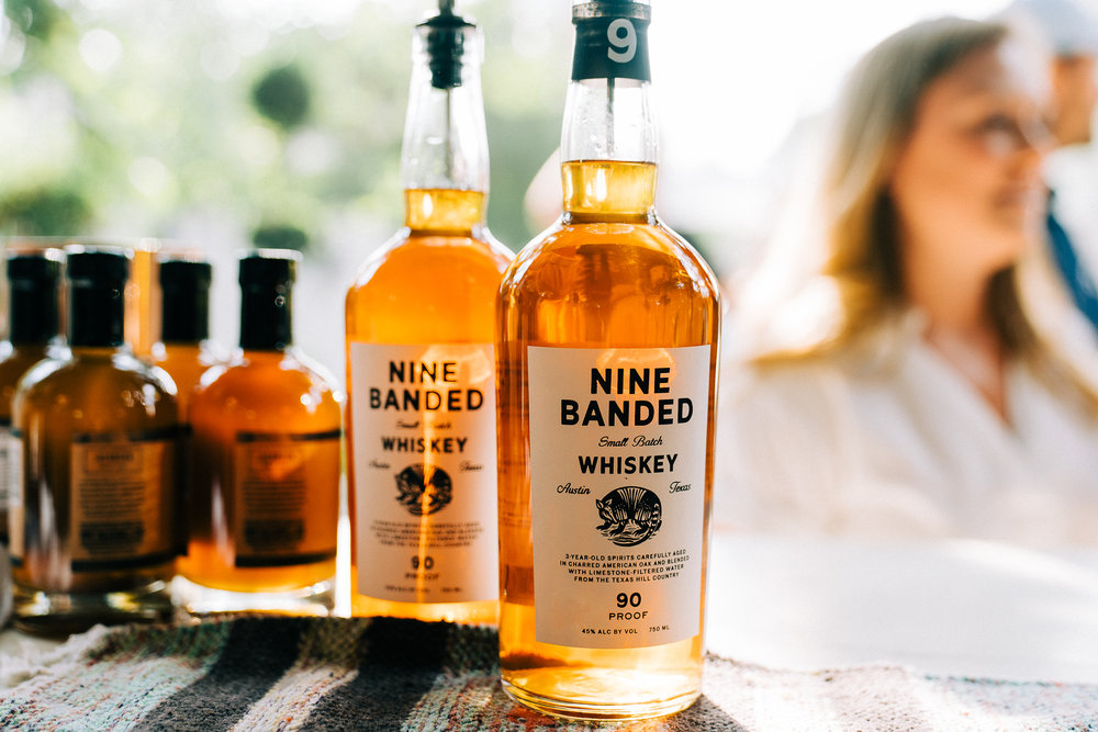 Nine Banded Whiskey lent their delicious signature product to the event's Peach Old-Fashioned cocktails.