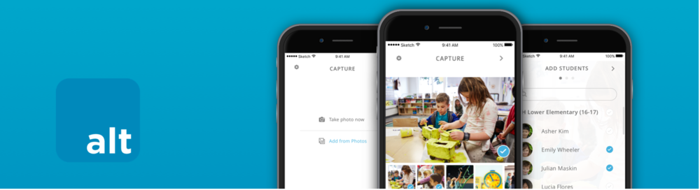 """Capture"" an app used by students and teachers to document their work."