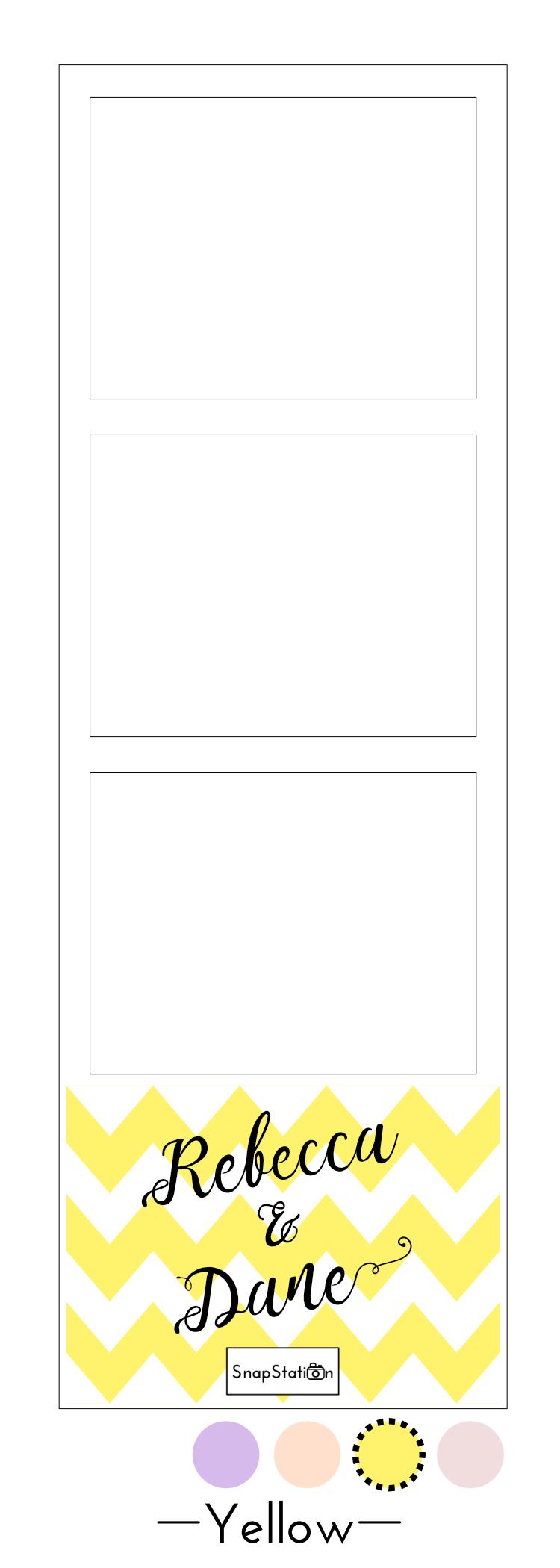 SnapStation personalised yellow chevron photo template