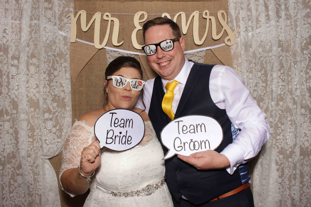 SnapStation Hessian and Lace photo booth backdrop