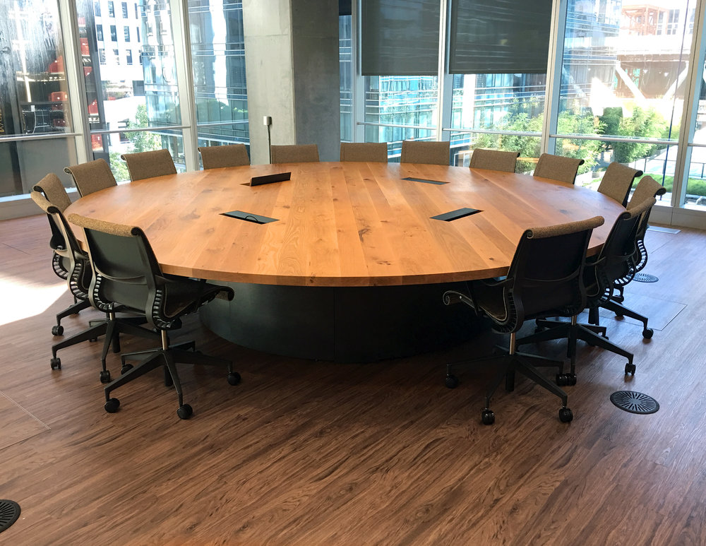 Northwood Design Partners - Round wood conference table