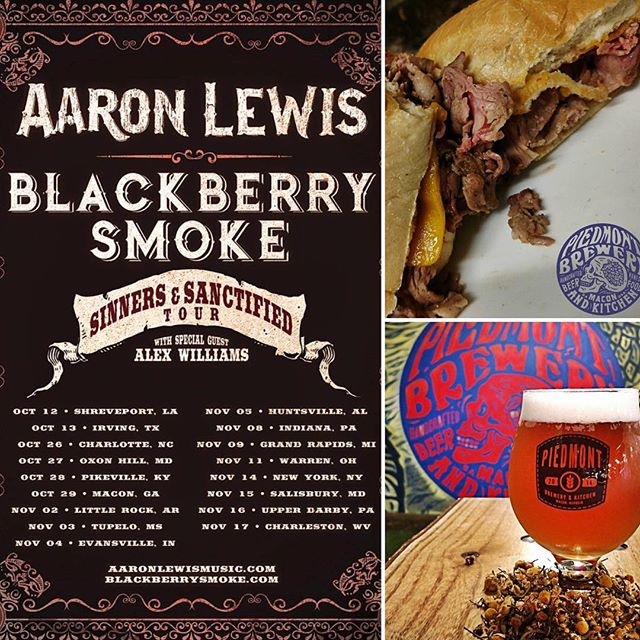 Headed to Macon with @southeasttraders tomorrow to see @blackberrysmoke and @aaronlewismusic. Means a stop at one of our favorite restaurants @piedmontbrewery.  #macon #southernrock #outlawcountry #greatfood #craftbeer #bbq