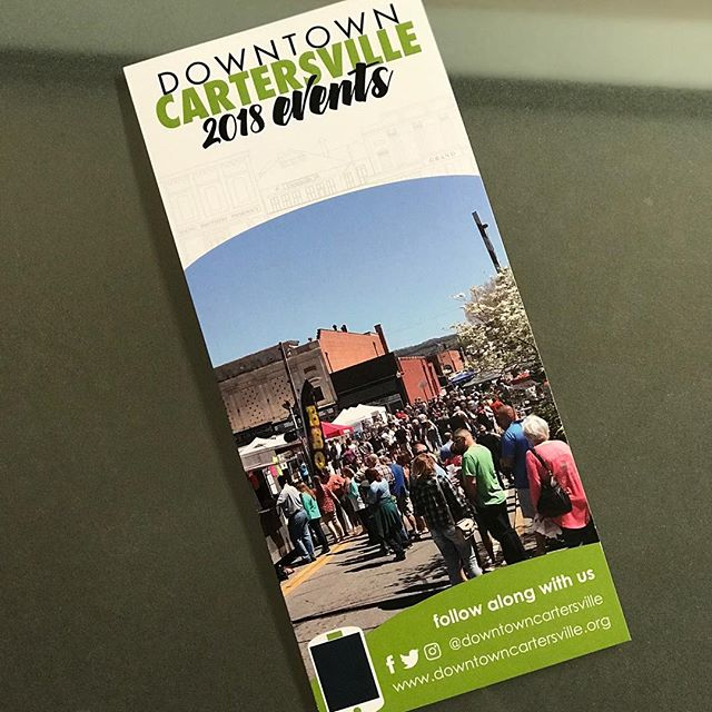 Gotta love when your event makes the front of a city's event brochure. We are excited about being back in @downtowncartersville on April 7th for our next festival!  #bbq #barbecue #festival #beer #craftbeer #springiscoming