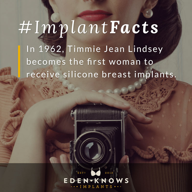 In 1962, Timmie Jean Lindsey becomes the first woman to receive silicone breast implants.