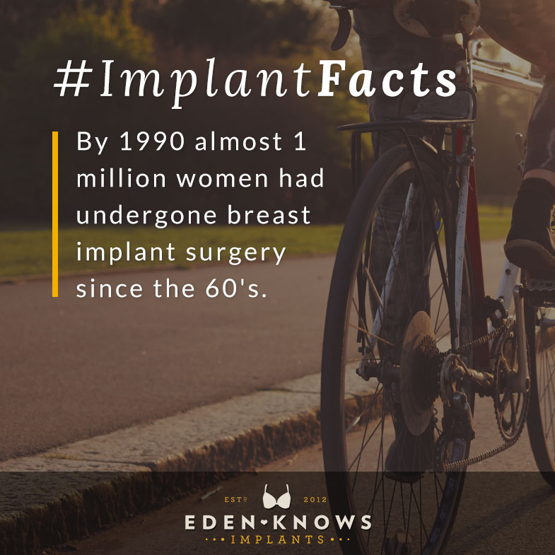 By 1990, almost 1 million woman had undergone breast implant surgery since the 60's.