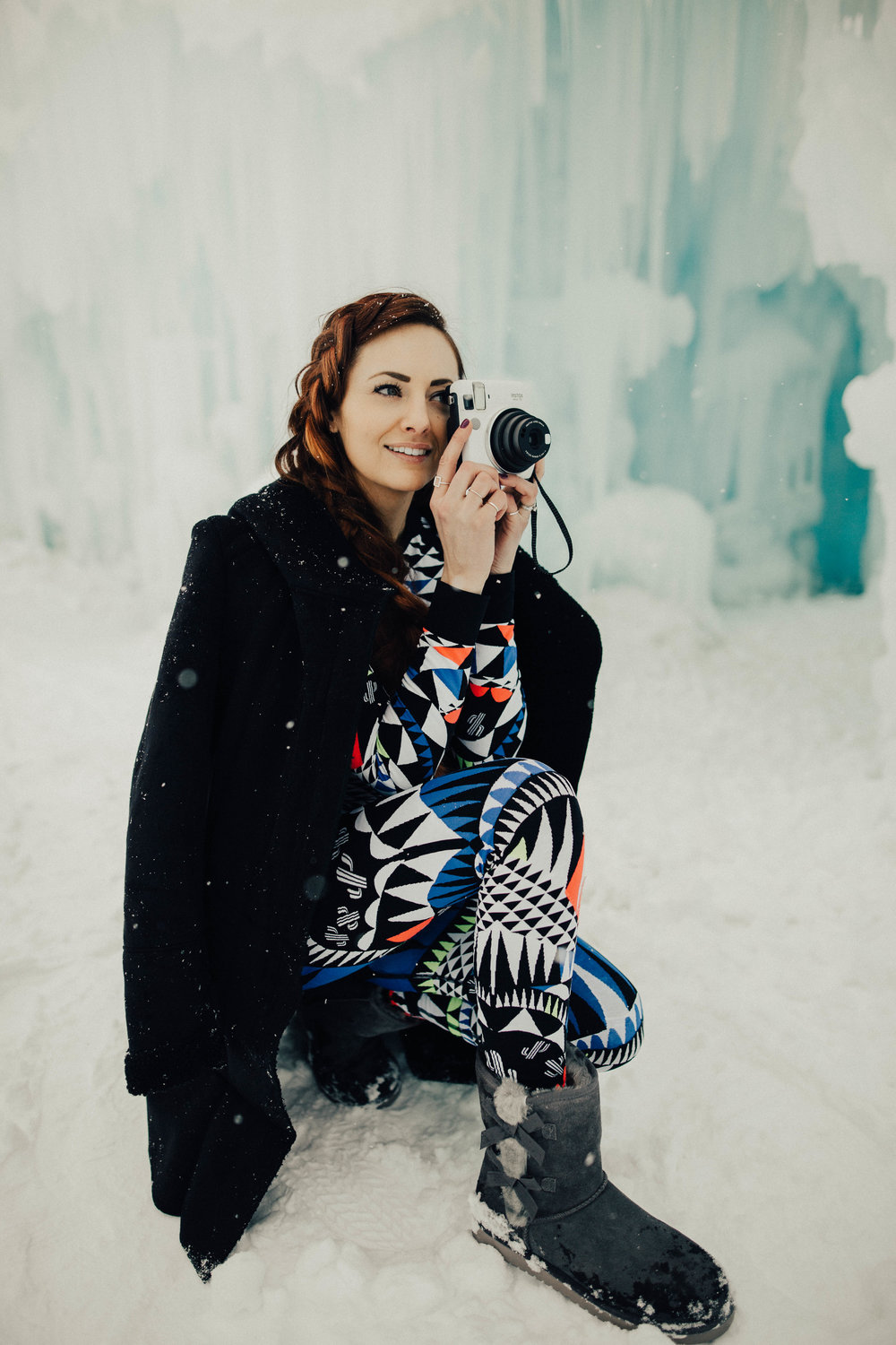@Jackie_Welling using her Fujfilm Instax mini 70 at the Ice Castles in Utah.