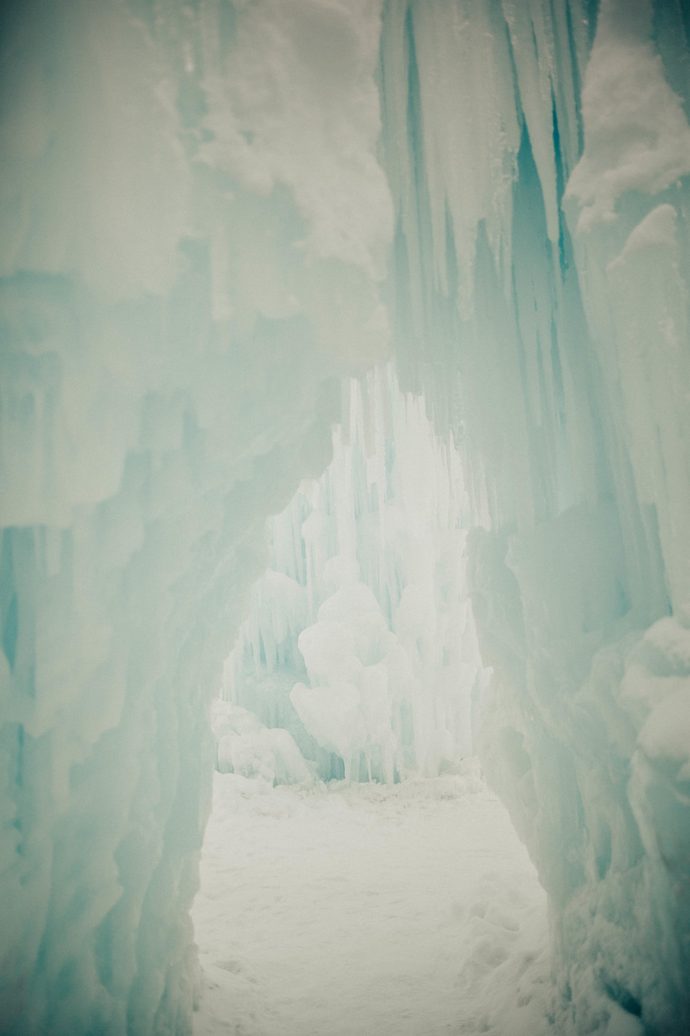 The majestic ice castles which was completely private for our Instax Ice Queens