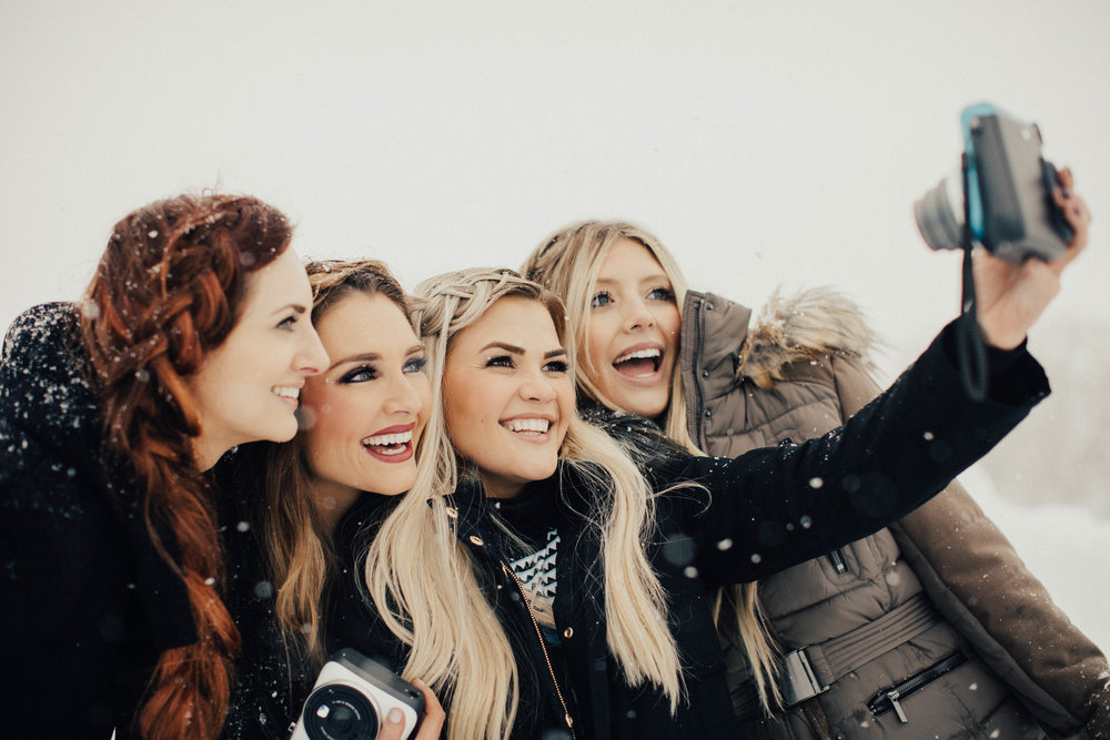 Instax Ice Queens rocking their selfie skills with their Fujifilm Instax Mini 70
