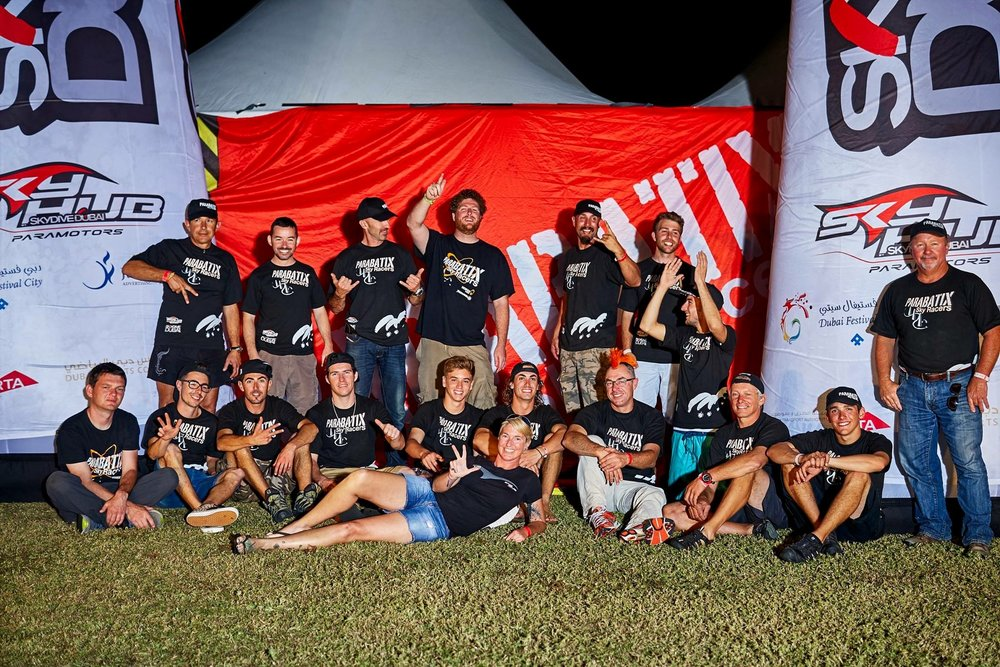 Parabatix Sky Racers in Dubai 2014, Pictured here are certainly the best Paramotor Pilots in the World, Legends, Champions ETC.