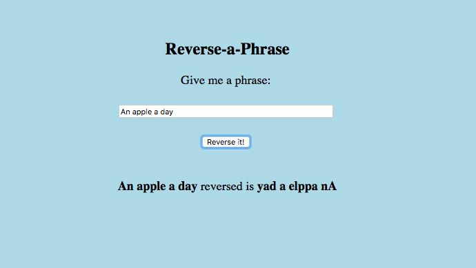 Reverse-a-Phrase