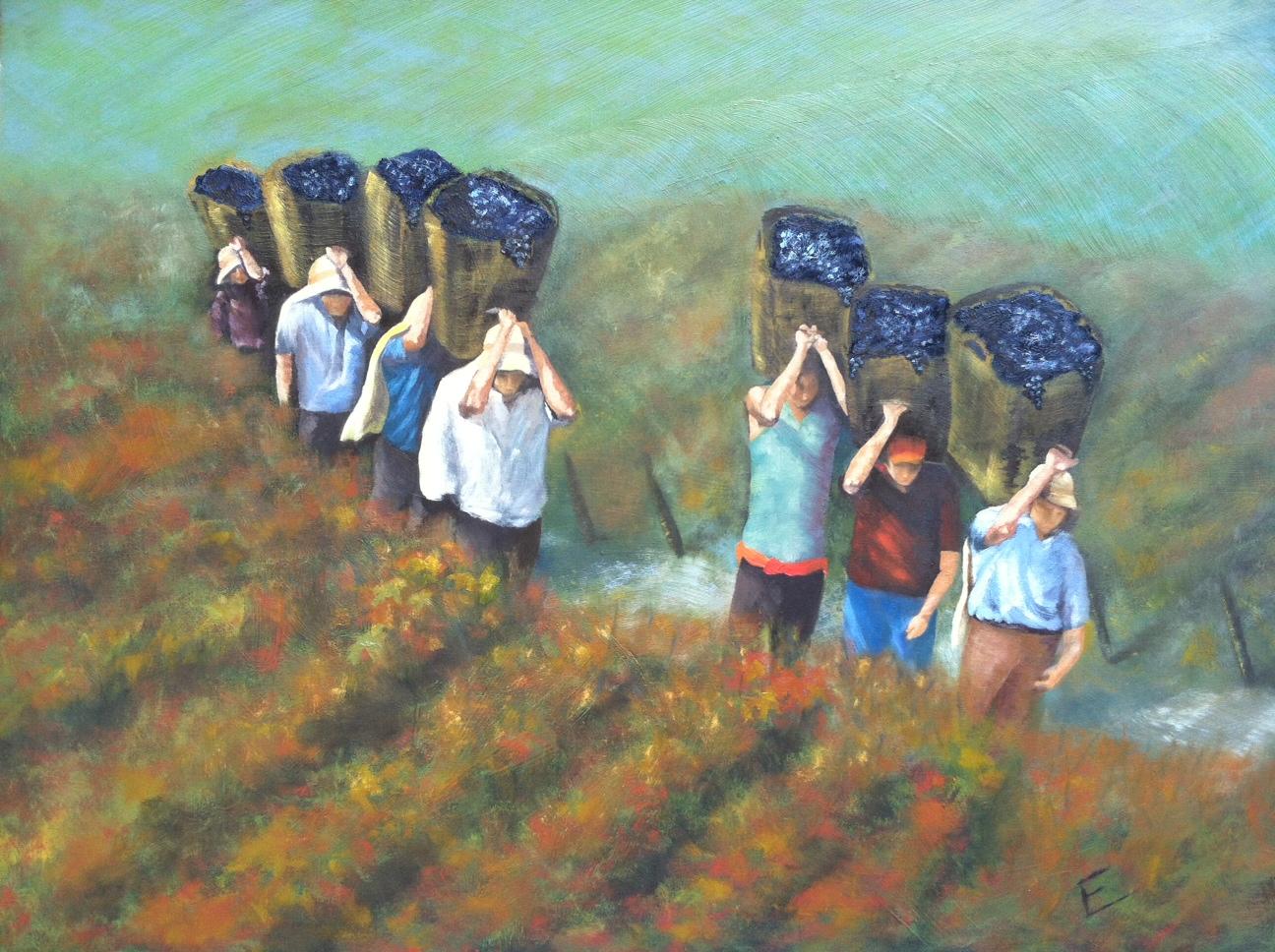 Painting by Ellen Carlisle