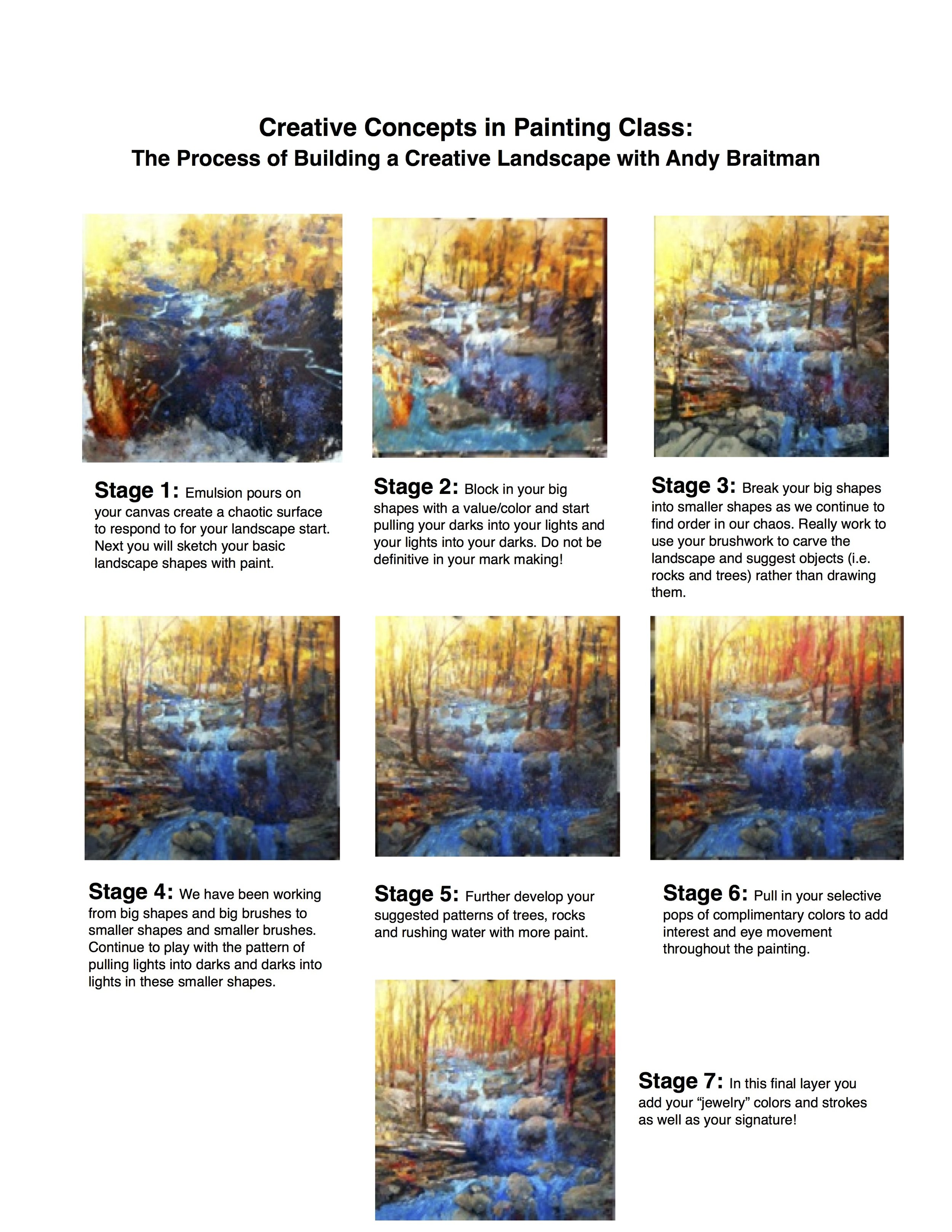 Creative Concepts in Painting Class-  The Process of Building a Creative Landscape with Andy Braitman