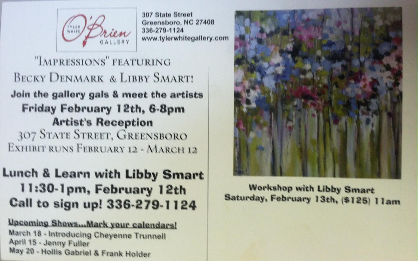 At Tyler White O'Brian Gallery on February 12th 6-8 p.m.