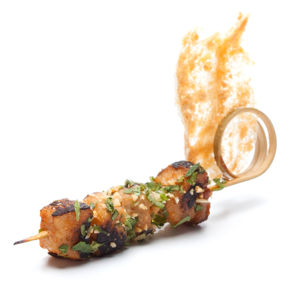 slot bam·boo 1. A custom-designed bamboo skewer with a corkscrew-like end that maintains levels of taste and texture by keeping crisp, dry ingredients separate from their juicy counterparts.