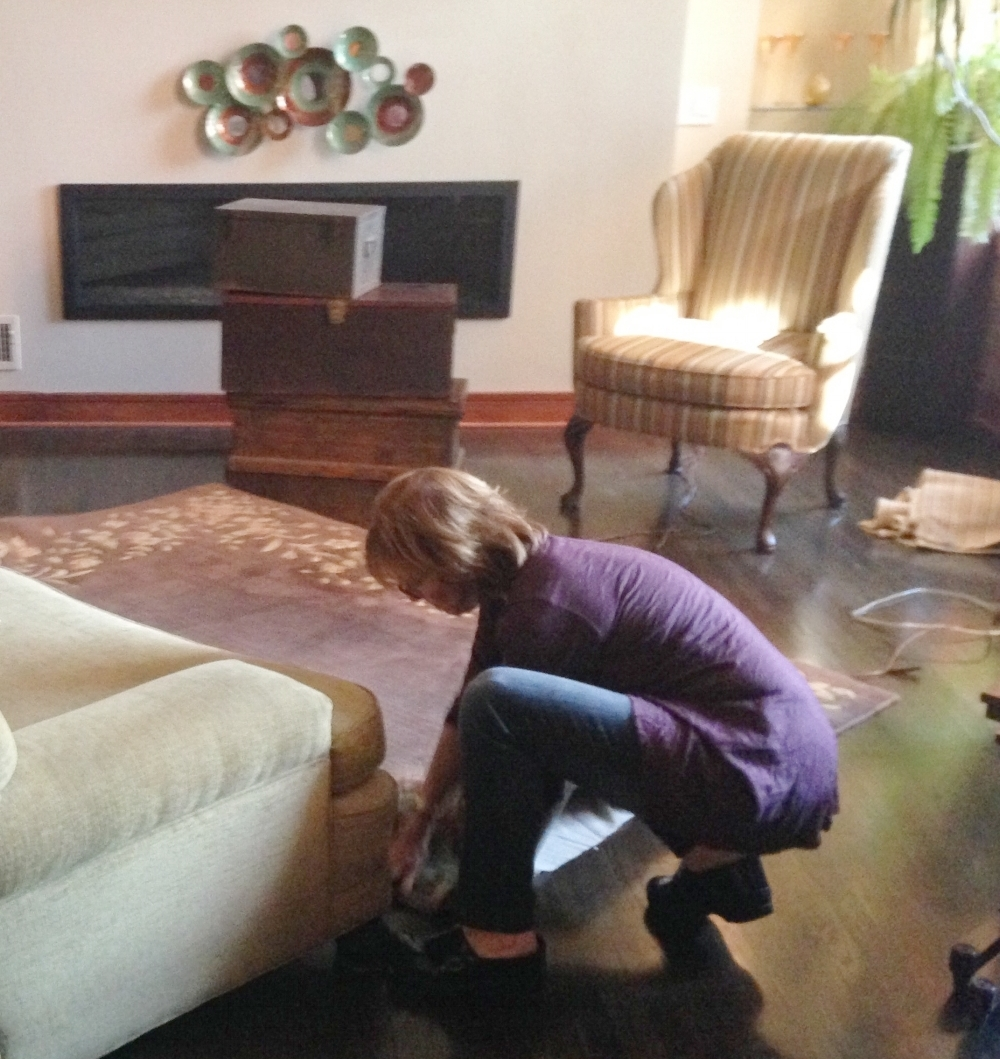 Redesigning and moving a rug