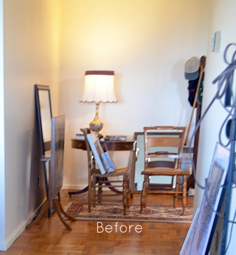 BEFORE: The client didn't know where to hang his artwork.