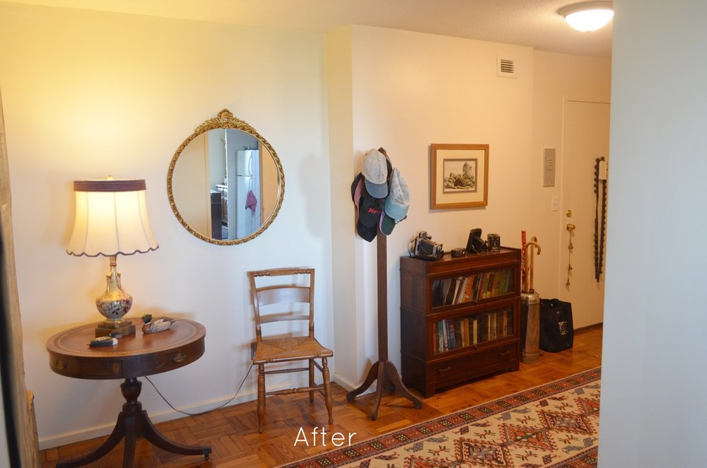 AFTER: The final entryway is a warm, welcoming space.