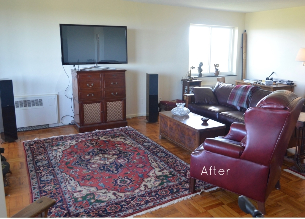 AFTER: The redesigned living room.