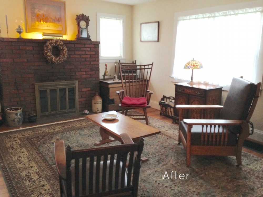 AFTER: Reimagined mantel and room.