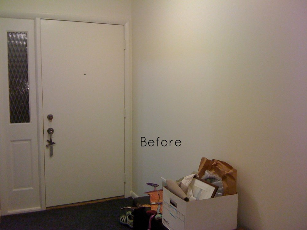 BEFORE: An empty wall is challenging.