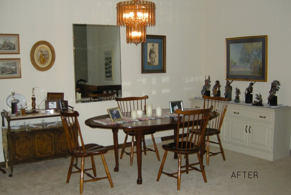 AFTER: Dining area was inviting.