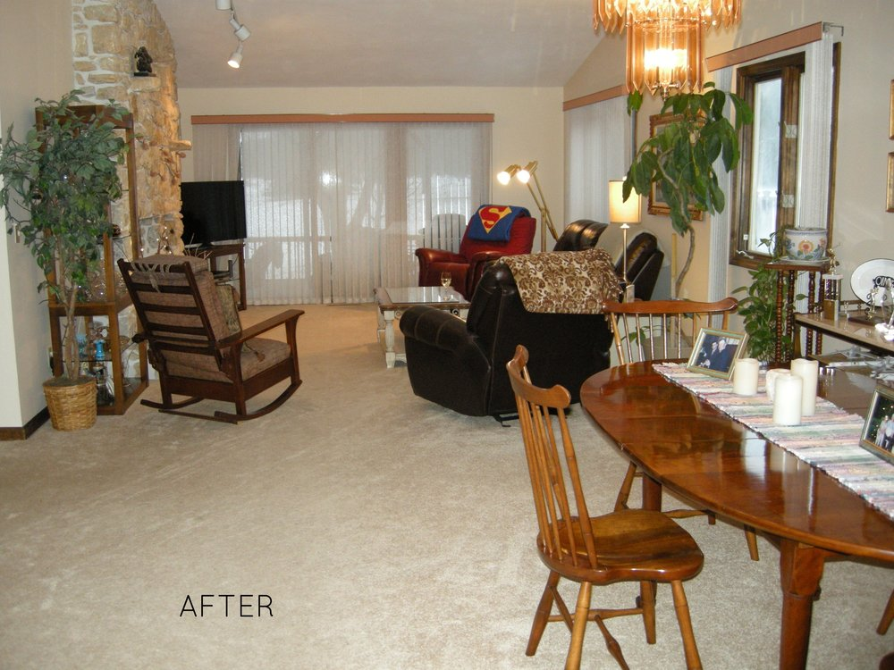 AFTER: Calm, relaxing, open space.