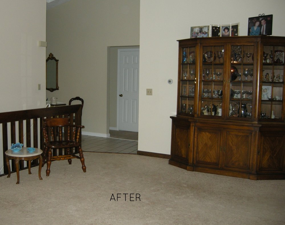 AFTER: Welcoming entry to great room.