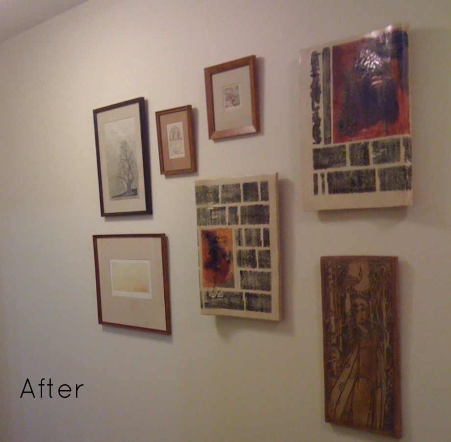 AFTER: Groupings show off the artwork.