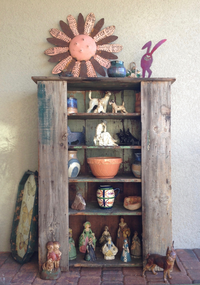 antique cupboard on my new lanai