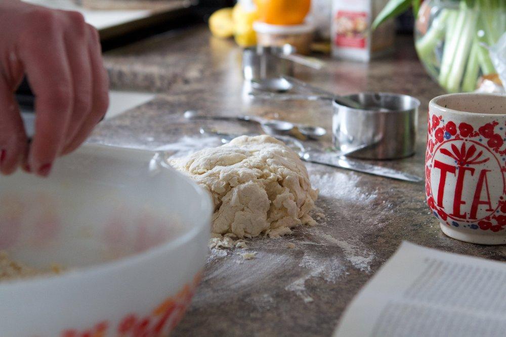 tea mug and dough