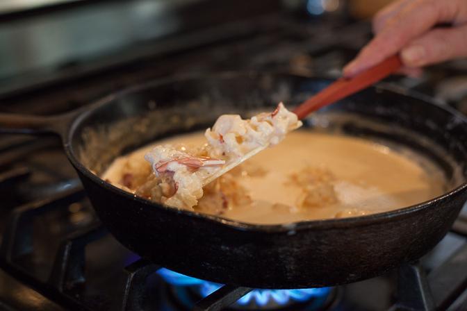 Creamed lobster